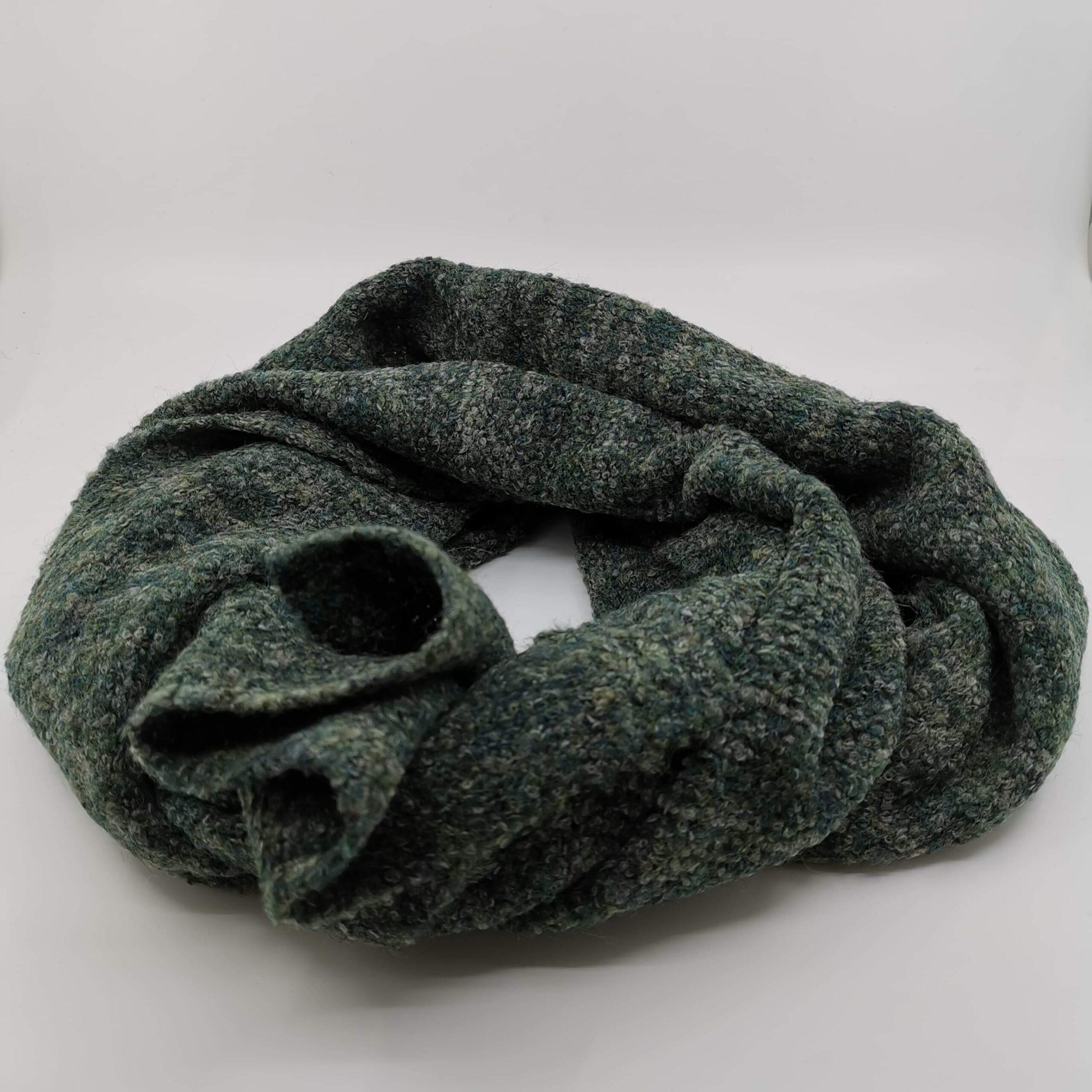Sciarpa mista lana verde