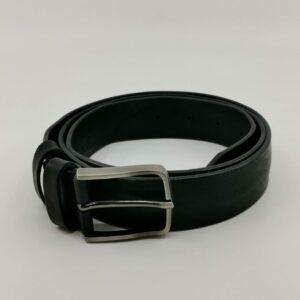 Cintura in vera pelle nera
